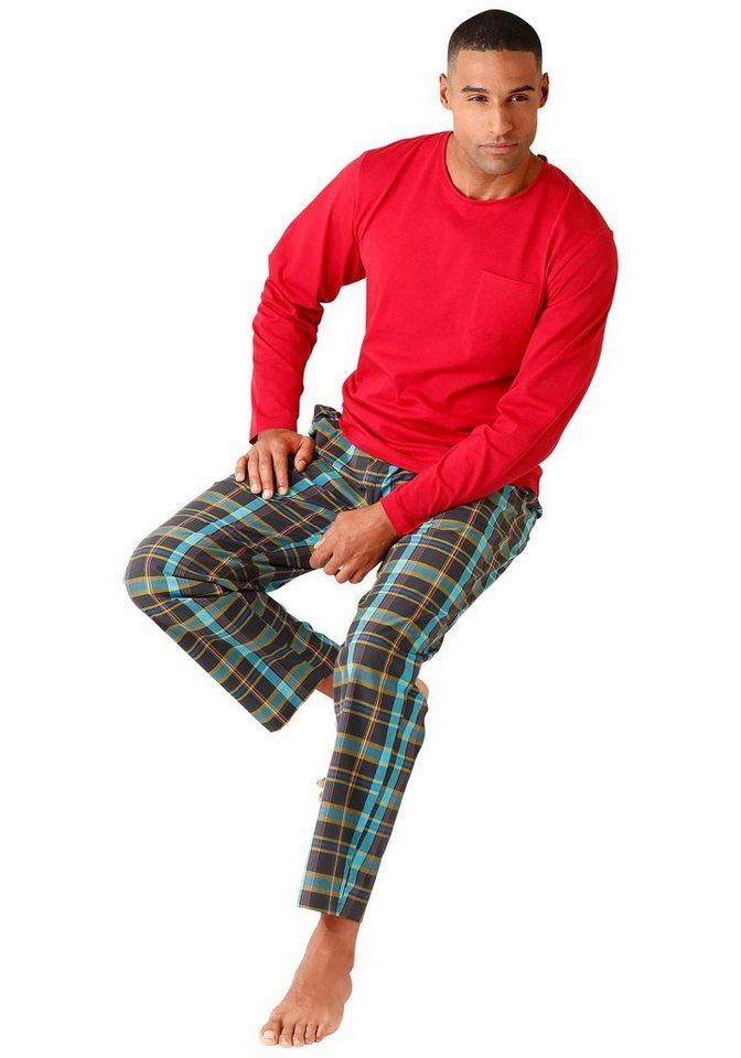 s.Oliver RED LABEL BODYWEAR pyjama in rot-kariert