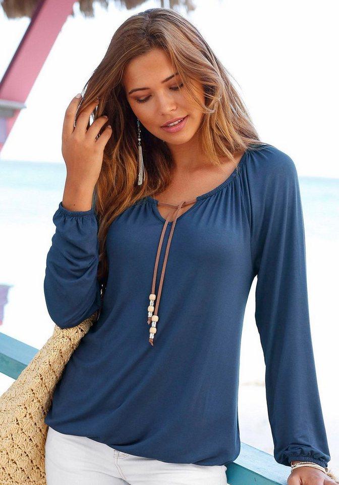 s.Oliver RED LABEL Beachwear Strandshirt in dunkelblau