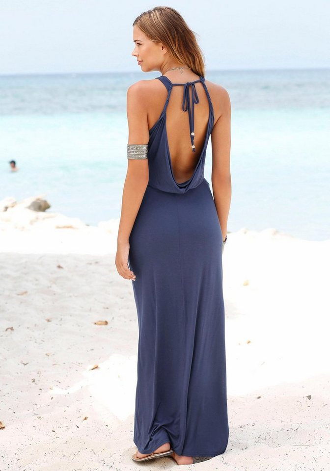s.Oliver RED LABEL Beachwear Maxikleid in dunkelblau