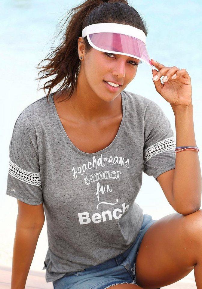 Bench Strandshirt in grau meliert