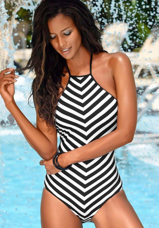 Badeanzug, Jette in schwarz-weiß