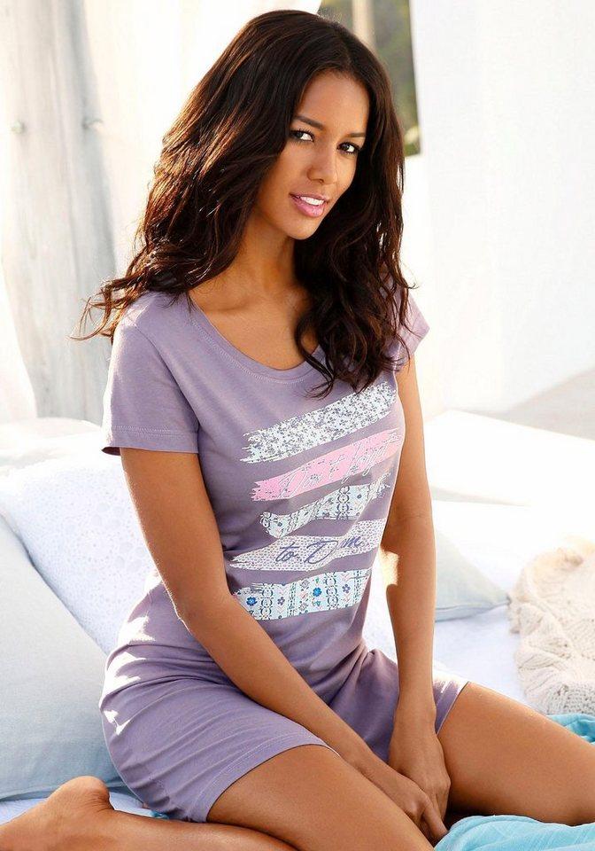 Pyjama, Petite Fleur in lila/gestreift