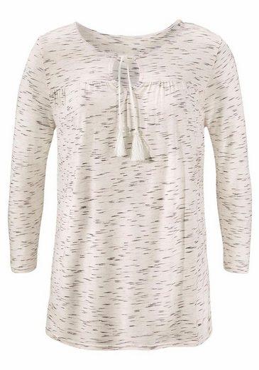 Vivance Shirt mit 7/8-Arm und Bindebändern am Ausschnitt