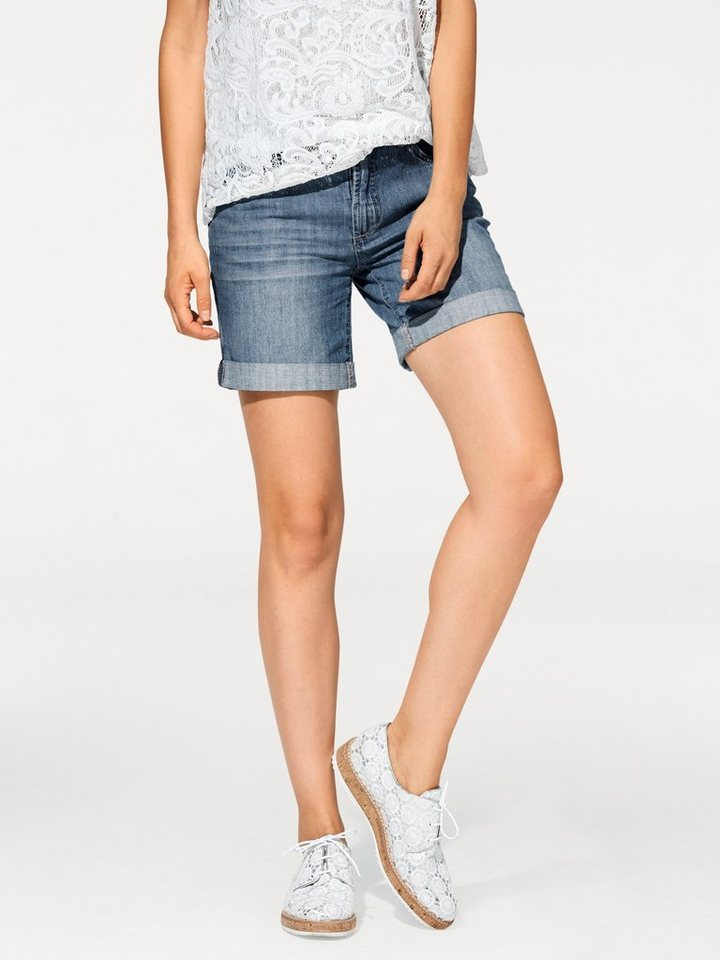 Jeans-Shorts in blue stone