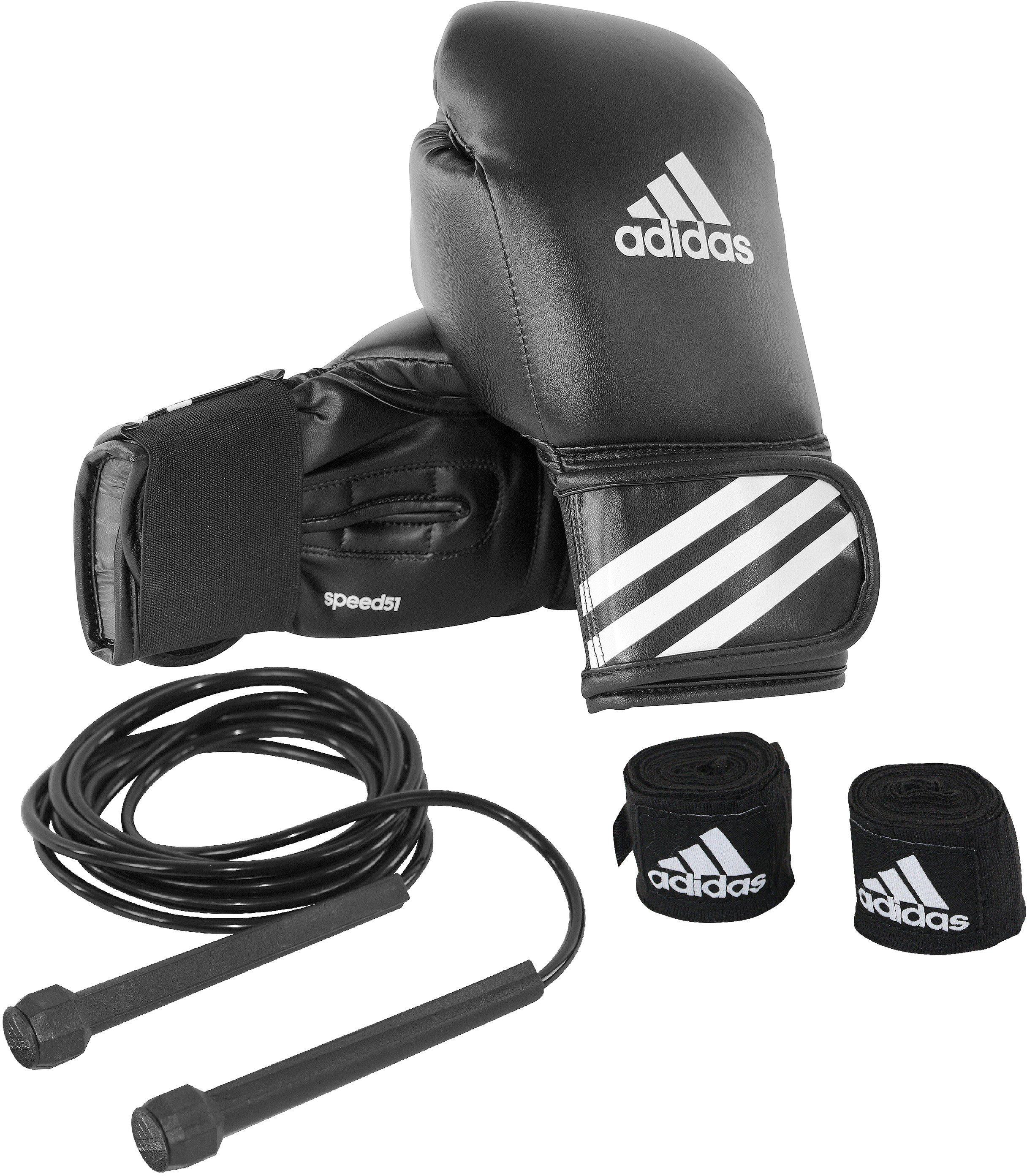adidas Performance Boxhandschuhe mit Springseil und Bandagen, »Boxing Kit«