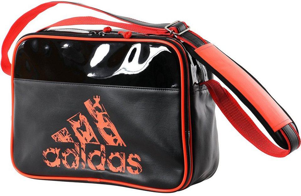 adidas Performance Sporttasche, »Leisure Messenger, black« in schwarz/orange
