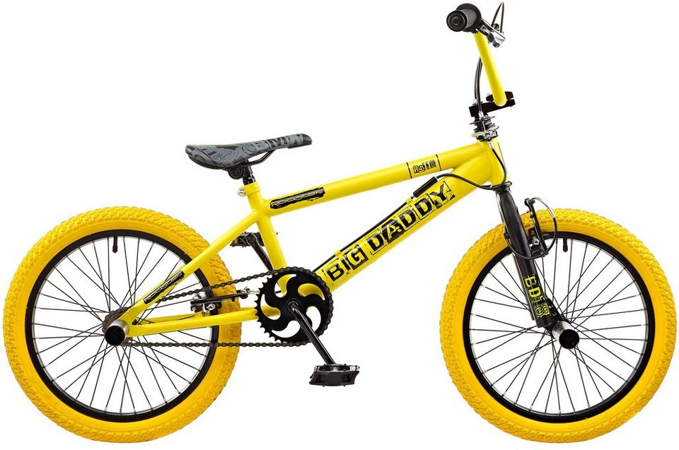 Rooster BMX, 18 Zoll, »Big Daddy spoked« in schwarz-gelb