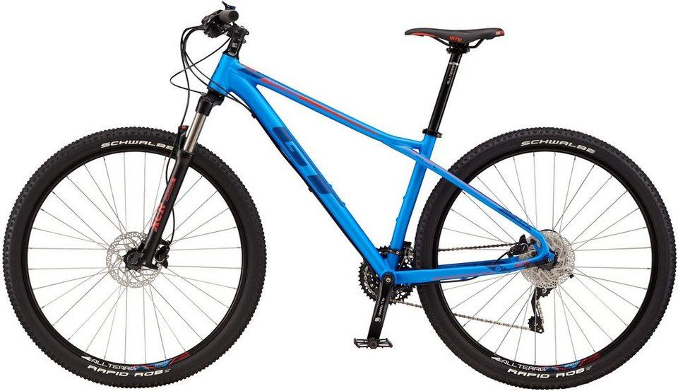 GT Hardtail Mountainbike, 29 Zoll, 30 Gang Shimano Kettenschaltung, »Karakoram Elite« in blau