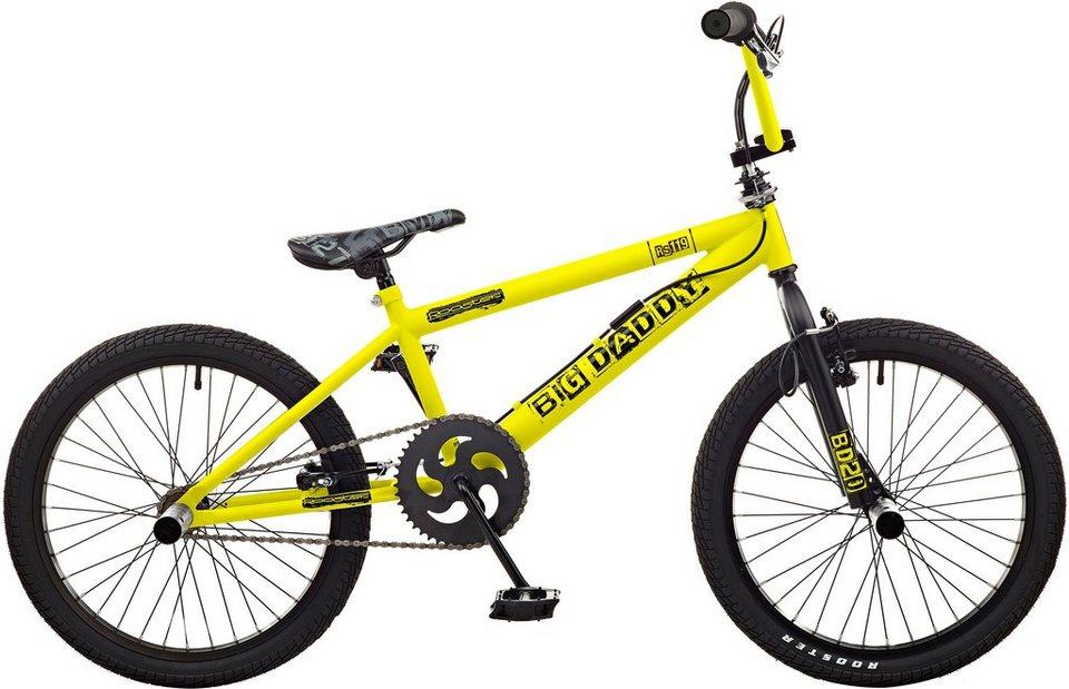 Rooster BMX, 20 Zoll, »Big Daddy spoked« in gelb-schwarz