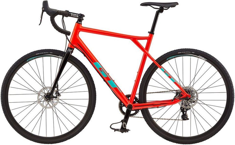 GT Crossrad, 28 Zoll, 20 Gang Shimano Kettenschaltung, »Grade AL CX RIVAL RED« in rot
