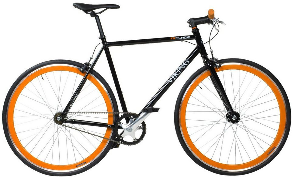 Viking Fixie, 28 Zoll, »Viking Blade« in schwarz-orange