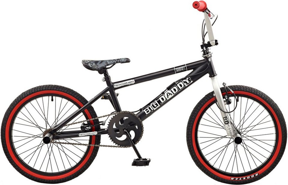 Rooster BMX, 20 Zoll, »Big Daddy spoked« in schwarz-rot