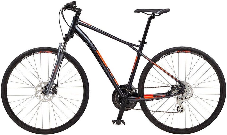 GT Fitnessbike, 28 Zoll, 20 Gang Shimano Kettenschaltung, »Transeo 4.0« in schwarz-silberfarben