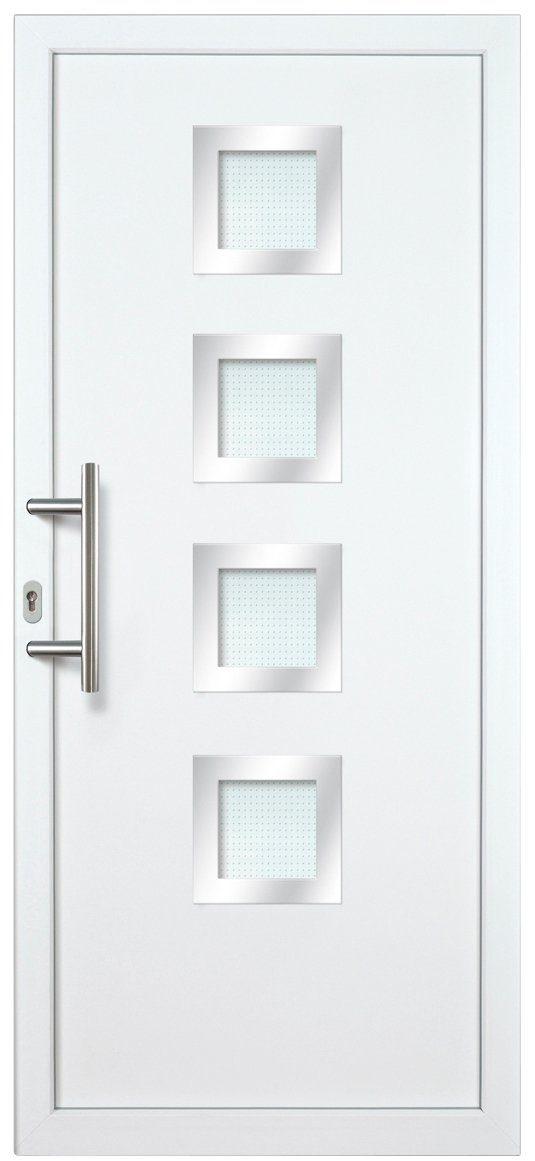 KM MEETH ZAUN GMBH Kunststoff-Haustür »KT235«, BxH: 98x198 cm, weiß, Anschlag rechts