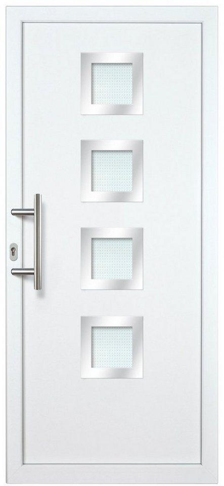 Kunststoff-Haustür »KT235«, Türanschlag rechts (BxH: 98 x 208 cm) in weiß