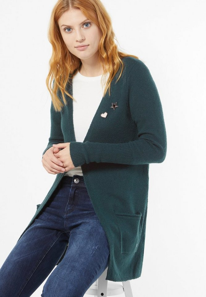 Street One Long Cardigan Estelle in urban green