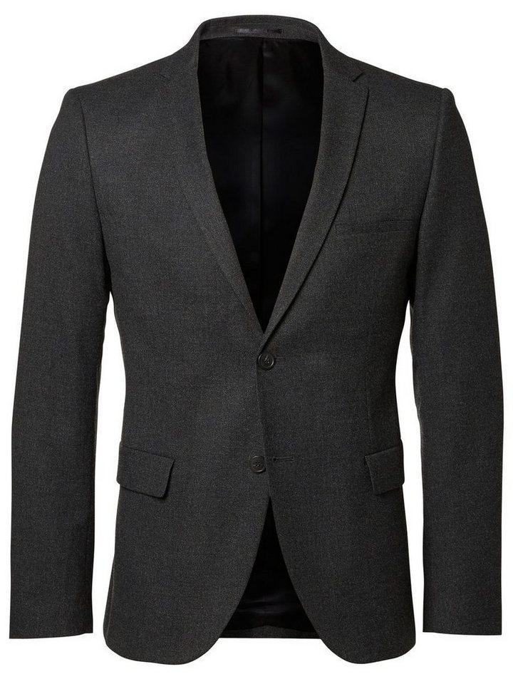 Selected Skinny Fit- Blazer in Dark Grey Melange