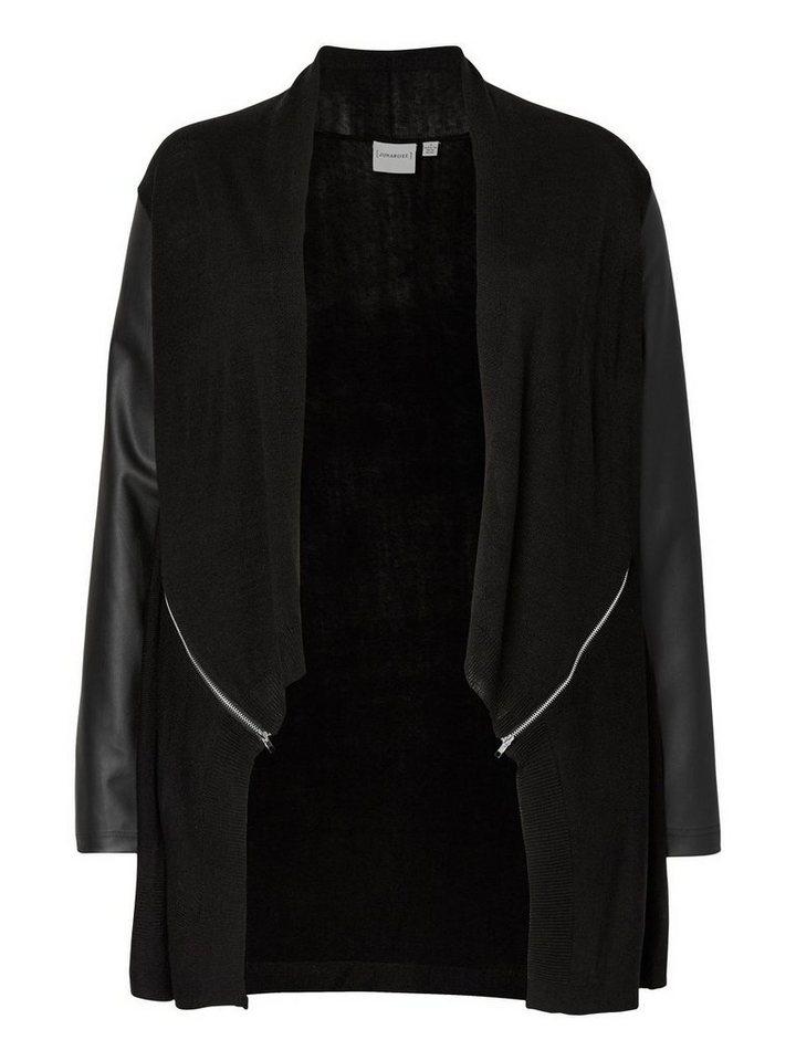 JUNAROSE Drapierte Jacke in Black