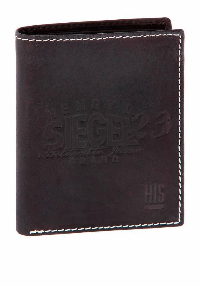 H.I.S Geldbörse mit Logoschriftzug in schwarz
