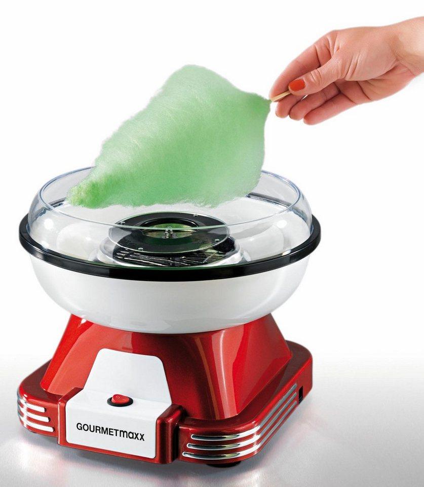 Gourmet Maxx Zuckerwatte-Maschine, 500 Watt, rot/weiß in rot/weiß