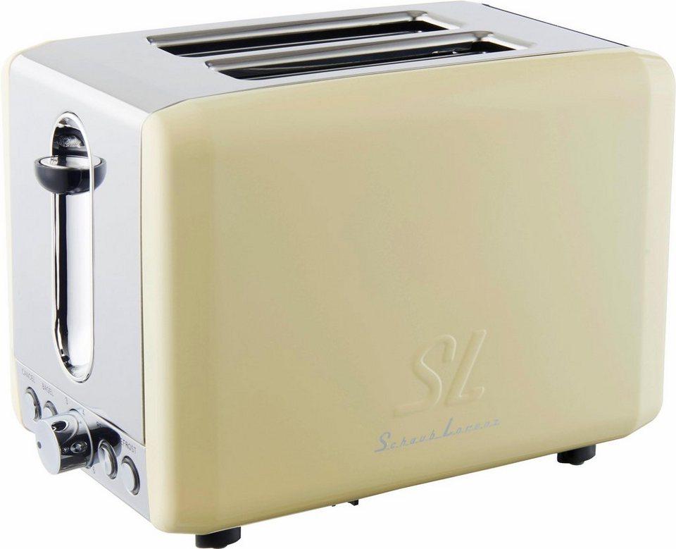 Schaub Lorenz Toaster SL T2.1SC, 850 Watt, créme in créme