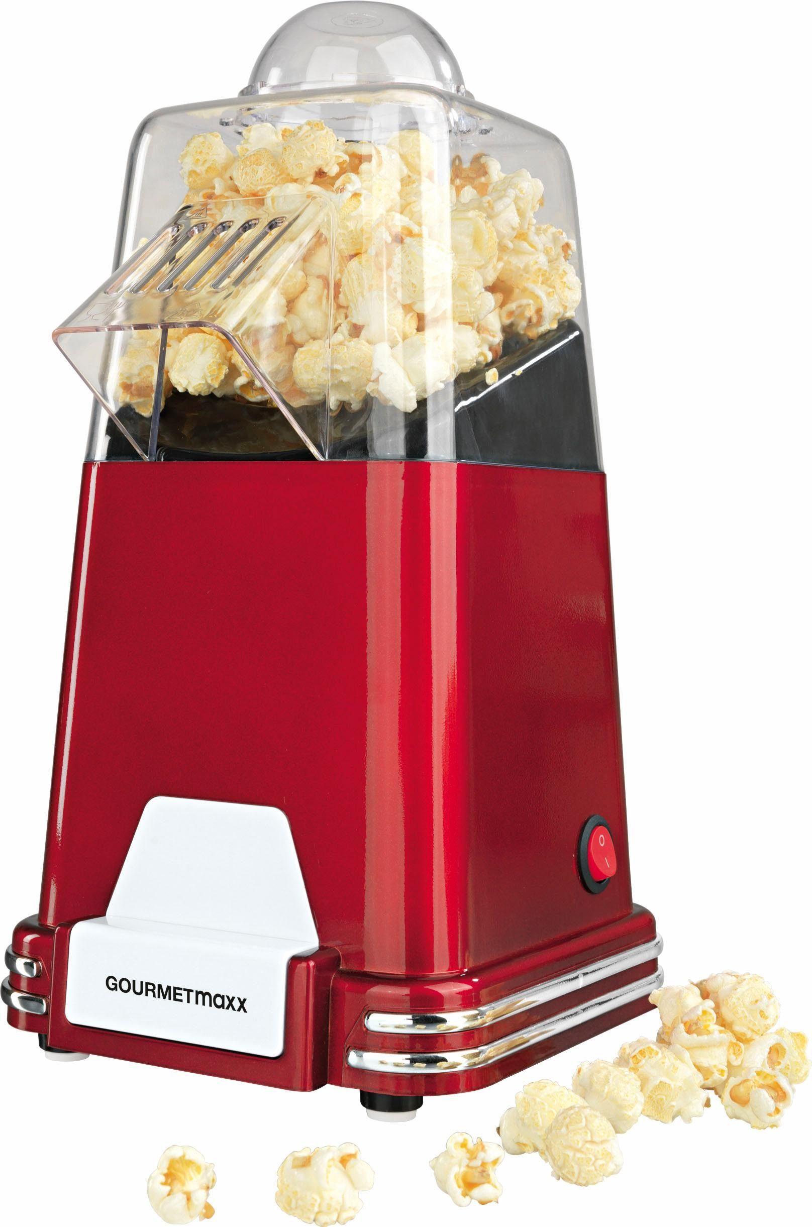 Gourmet Maxx Popcorn-Maschine, 1000 Watt, rot