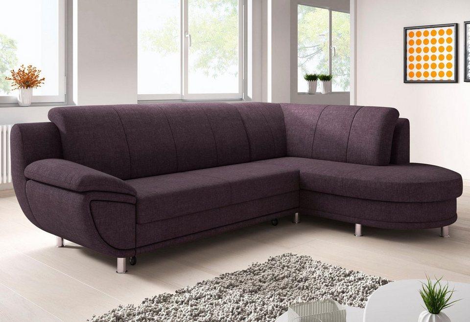 trendmanufaktur ecksofa wahlweise mit bettfunktion ottomane links oder rechts bestellbar. Black Bedroom Furniture Sets. Home Design Ideas