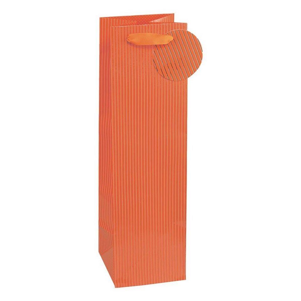 TSI Flaschen-Geschenktasche in orange