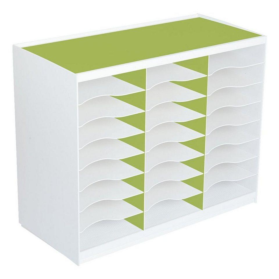 Paperflow Sortierstation in grün