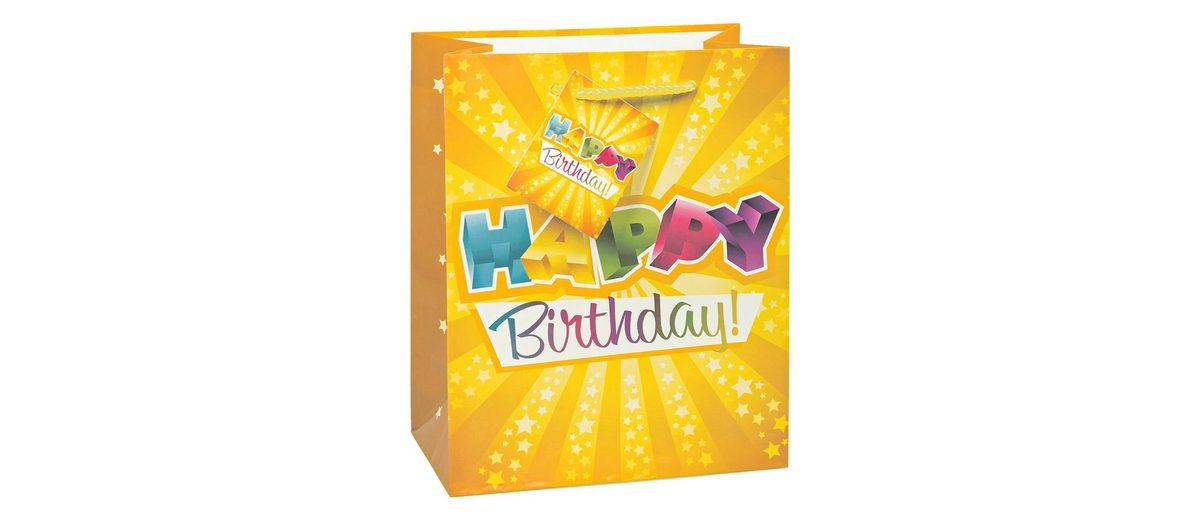 TSI Lacktragetasche »Happy Birthday«