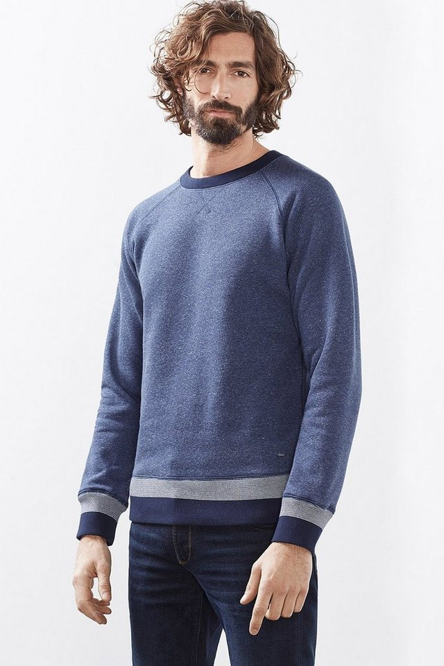 ESPRIT CASUAL Baumwoll Sweatshirt mit Fleece-Innenseite in NAVY