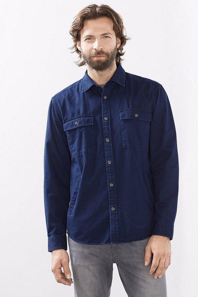 ESPRIT CASUAL Indigo Hemdjacke aus Baumwolltwill in NAVY