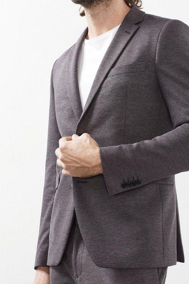 ESPRIT COLLECTION Premium-Blazer aus Melange Jersey in GREY