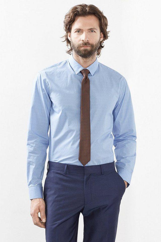 ESPRIT COLLECTION Glencheck Hemd, 100% Baumwolle in LIGHT BLUE