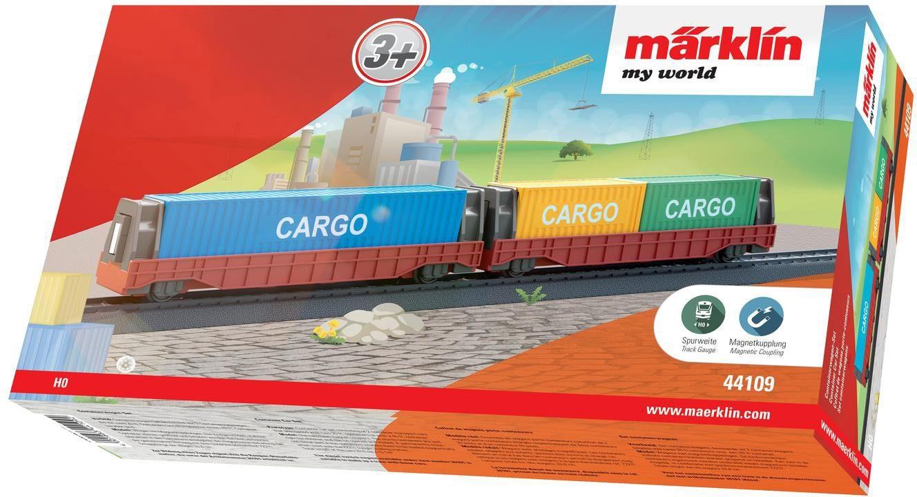 Märklin Containerwagen Set, Spur H0 - 44109, »Märklin my world, Containerwagen Set«