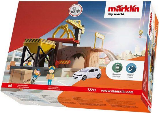 """Märklin Modelleisenbahn-Gebäude """"Steckbarer Bausatz, Spur H0 - 72211, my world, Güterverladebahnhof"""", Spur H0"""