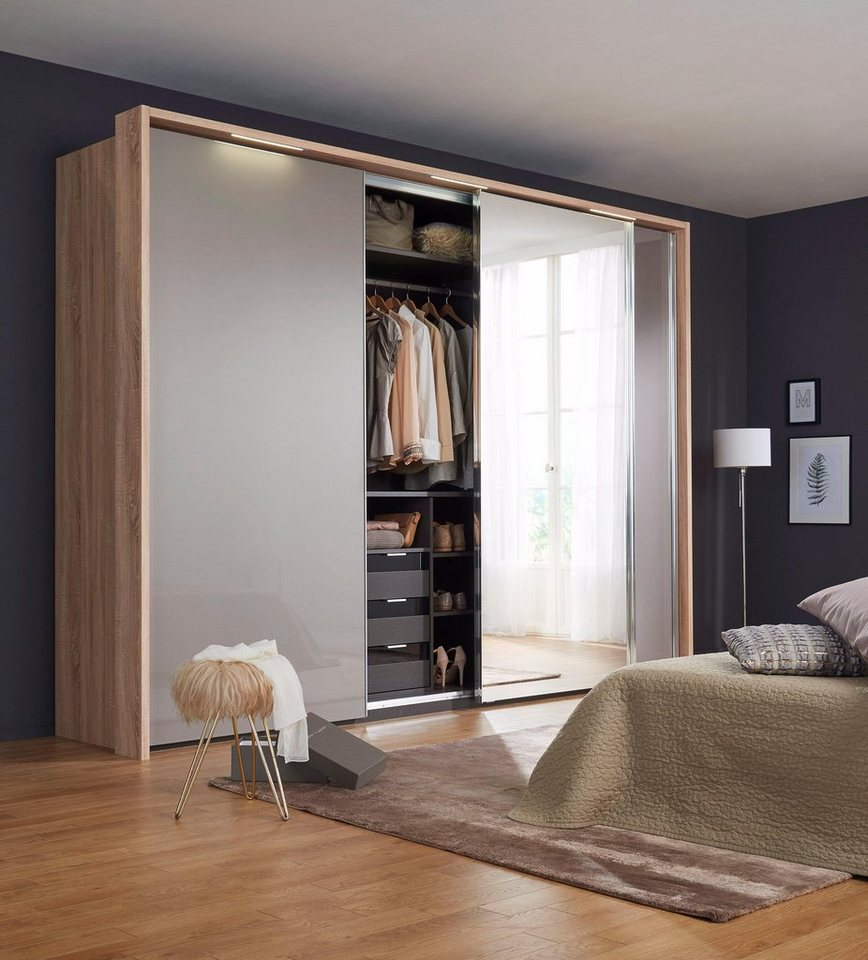 nolte® Möbel Schwebetürenschrank (3-türig) »Marcato 1C« mit Fronten aus  Glas und Spiegel online kaufen | OTTO
