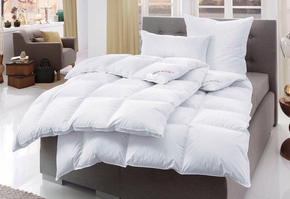 Bettdeckenset, »Swiss Royal«, Häussling, Warm, 90% Daunen, 10% Federn