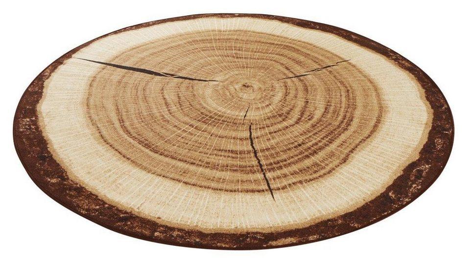 Berühmt Teppich »Baumstamm«, HANSE Home, rund, Höhe 6 mm, Flachgewebe @KE_83