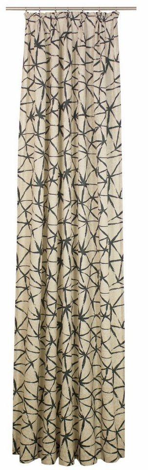 Vorhang, Wirth, »LISBURN«, mit Kräuselband (1 Stück) in schwarz