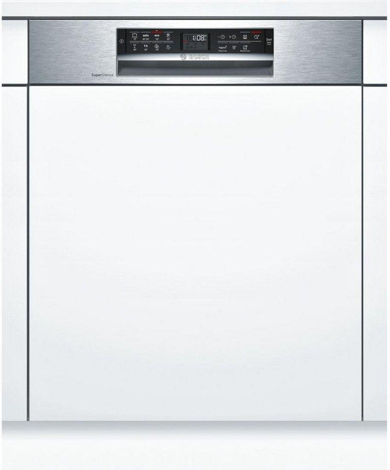 BOSCH Vollintegrierbarer Einbaugeschirrspüler SMI68MS02E, A++, 9,5 Liter, 14 Maßgedecke in silberfarben