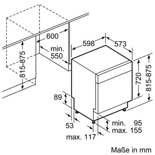 Küchengroßgeräte - BOSCH Unterbaugeschirrspüler Serie 4, Serie 4 SMU46KS01E, 9,5 l, 13 Maßgedecke  - Onlineshop OTTO