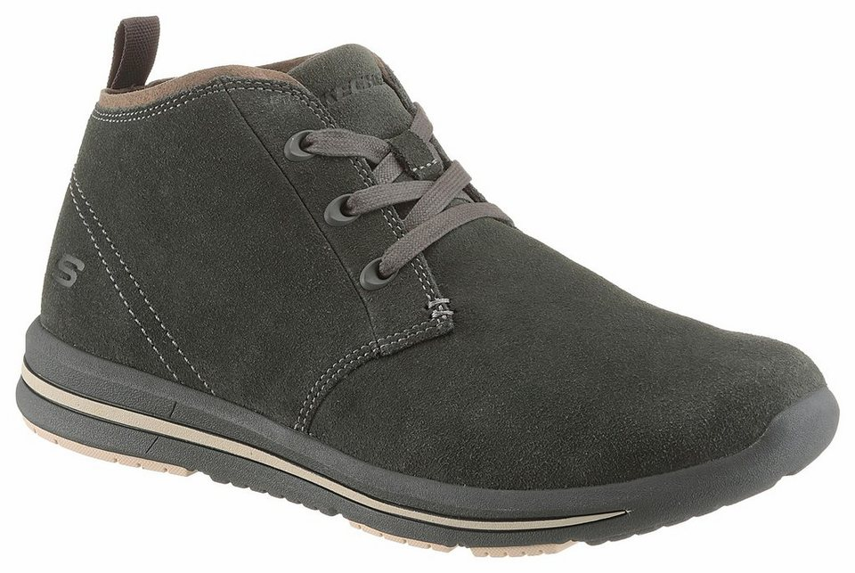 Skechers Schnürboots mit Air-Cooled Memory Foam in khaki