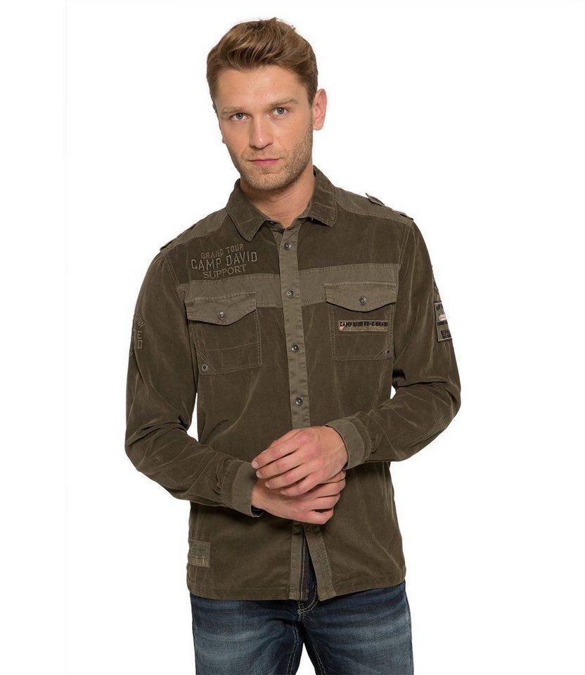 CAMP DAVID Hemd in khaki