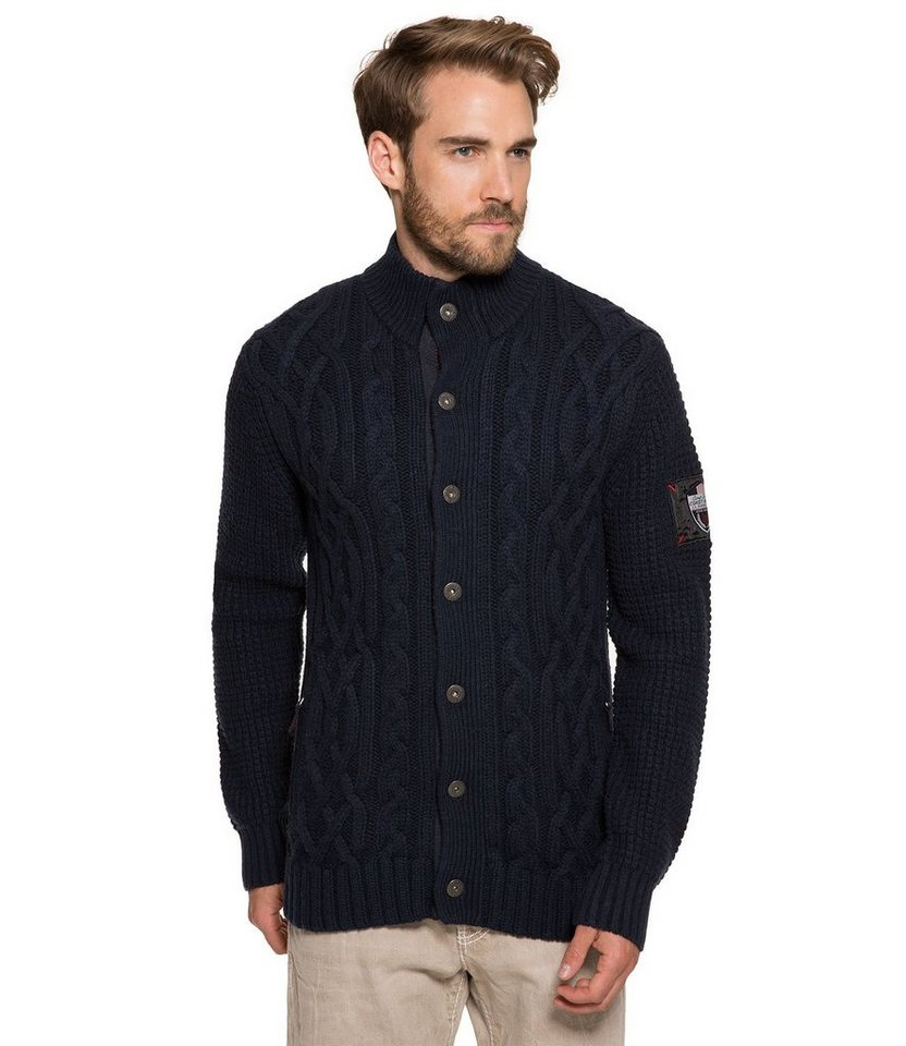 CAMP DAVID Strickjacke in nachtblau