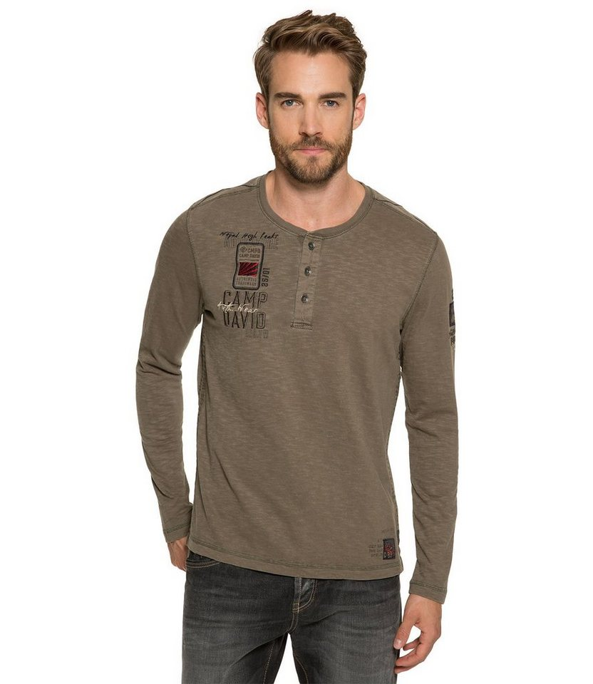 CAMP DAVID Longsleeve in khaki