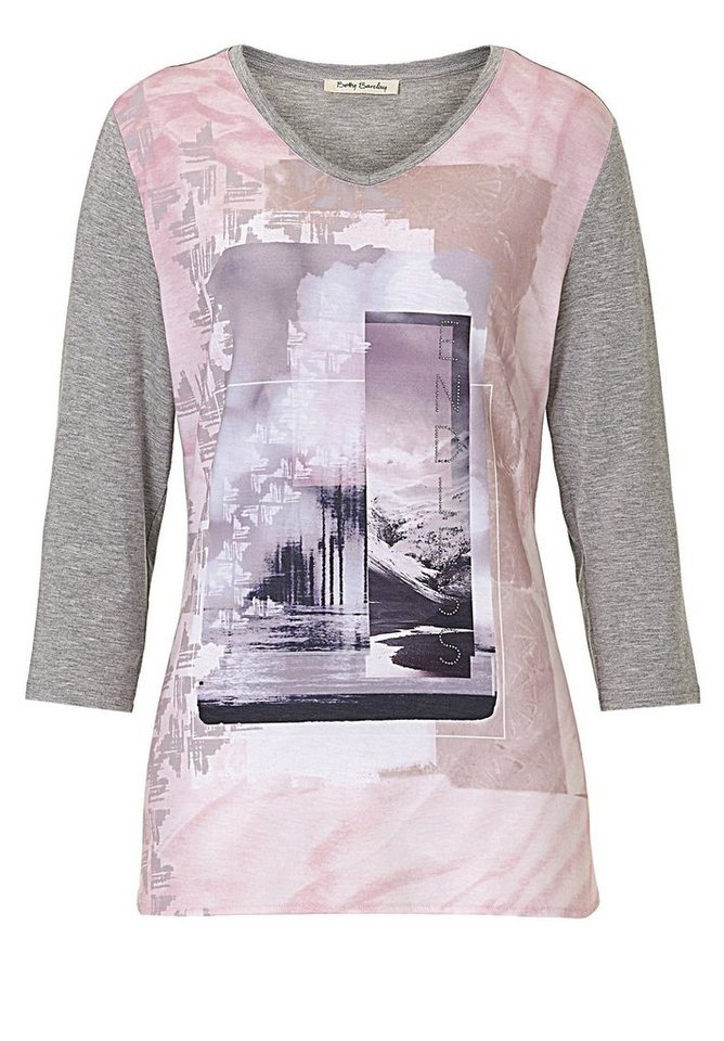 Betty Barclay Shirt in Grey-Dark Pink - Bun