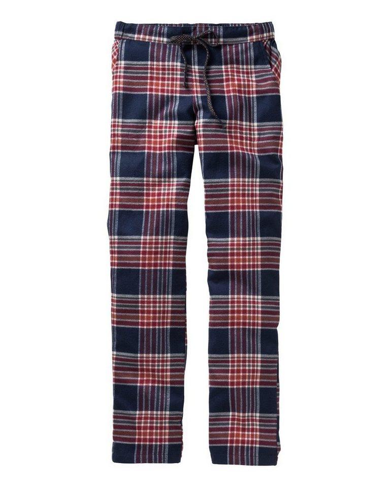 JOCKEY Flanell-Pyjamahose in Rot/Marine