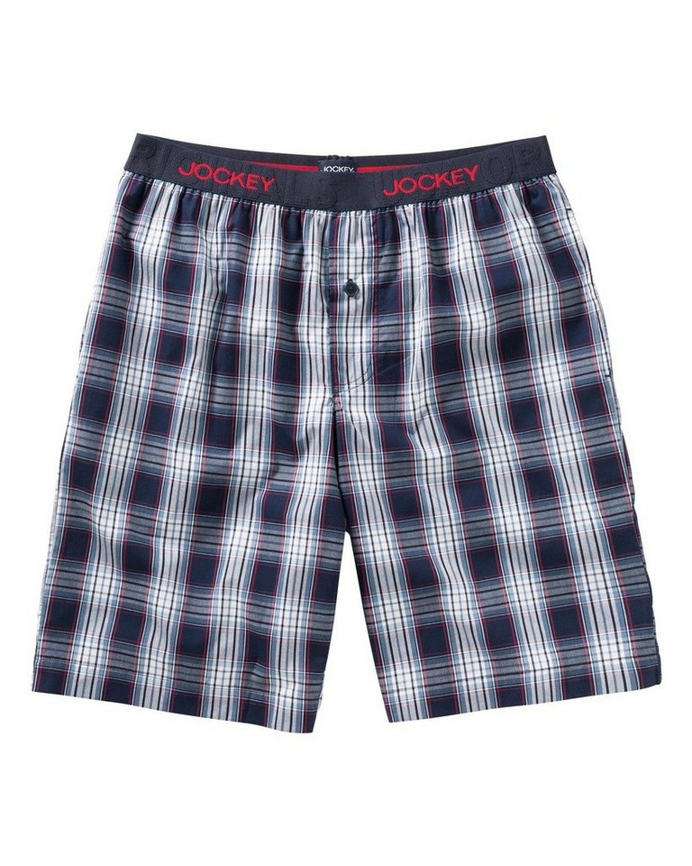 Jockey Pyjama Short in Marine/Blau/Rot