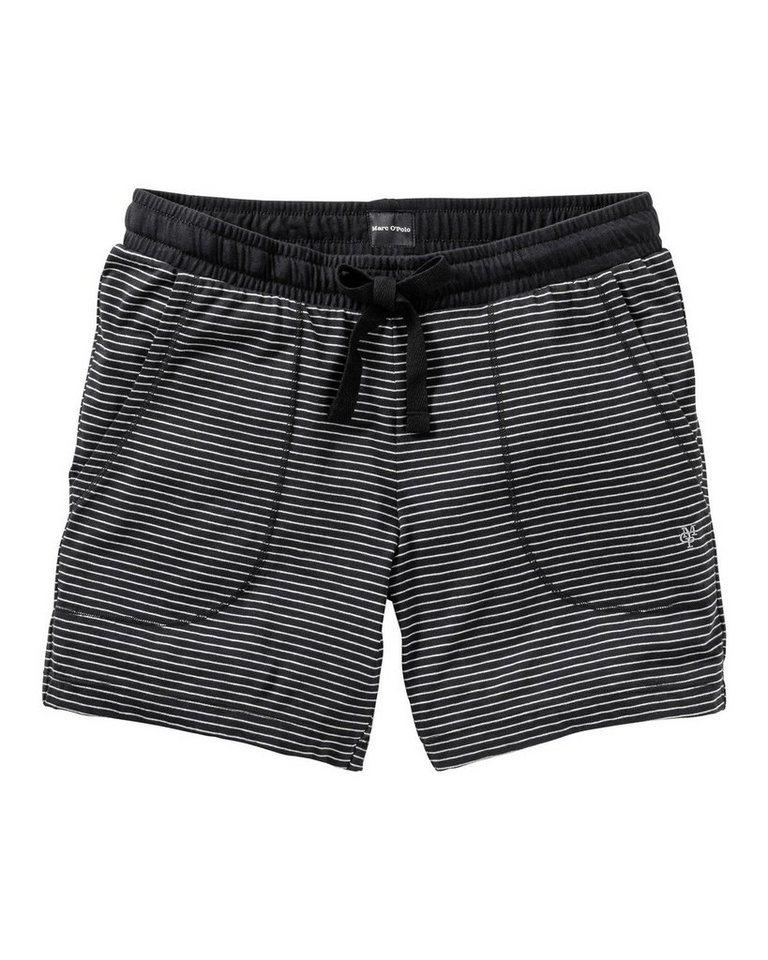 Marc O'Polo Body & Beach Shorts in Schwarz/Weiß